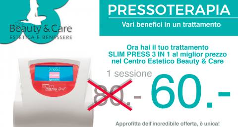 centro estetico beauty care losone slim press sessione